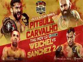 2020年11月13日Bellator 252期 - 直播[视频] PITBULL VS. CARVALHO