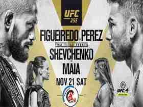 2020年11月22日UFC 255期 -直播[赛后视频] 菲格雷多vs佩雷兹