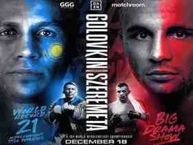 2020年12月19日中量级拳赛 戈洛夫金vs斯泽雷梅塔 - 直播[视频] Golovkin vs. SZEREMETA